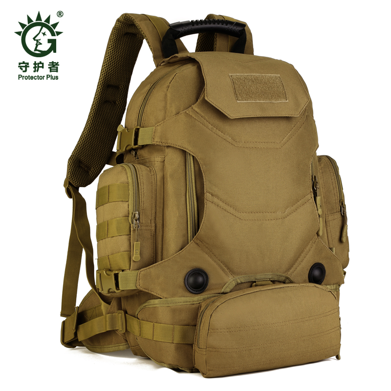 Waterproof Molle Backpack Camping bags Military 3P Gym Hiking Trekking Ripstop Tactical Gear for men 40L school bag