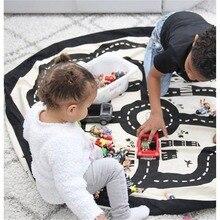 Купить с кэшбэком Play Mats Baby Toys mat carpet Infant Round Crawling Blanket Kids Rug Playing Crawling Games Carpets Children Pad carpets puzzle
