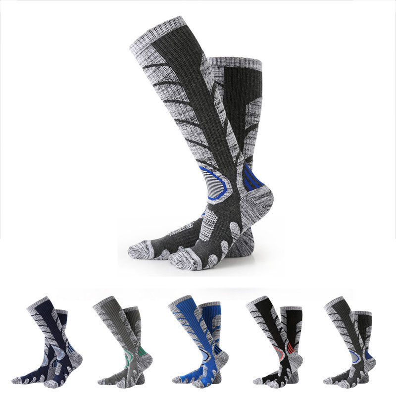 Men Winter Hiking Sports Socks Stockings Skiing Compression Bike Cycling Socks Ladies Running Football Socks fiets sokken