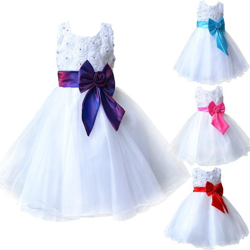 2017 Hot Flower Girl Dresses for Weddings Pageant White First Holy Lace Communion Dress Little Toddler Junior Child Bridesmaid