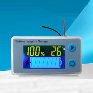 Image 3 - 48 V 60 V 72 V ołowiu kwasu wskaźnik naładowania baterii LCD wyświetlacz temperatury czujnik alarmowy litowy kwas ołowiowy Tester JS C33