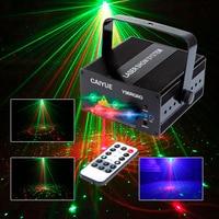 Laser Stage Lighting 5 Lens 80 Patterns RG Mini Led Laser Projector 3W Blue LED Light