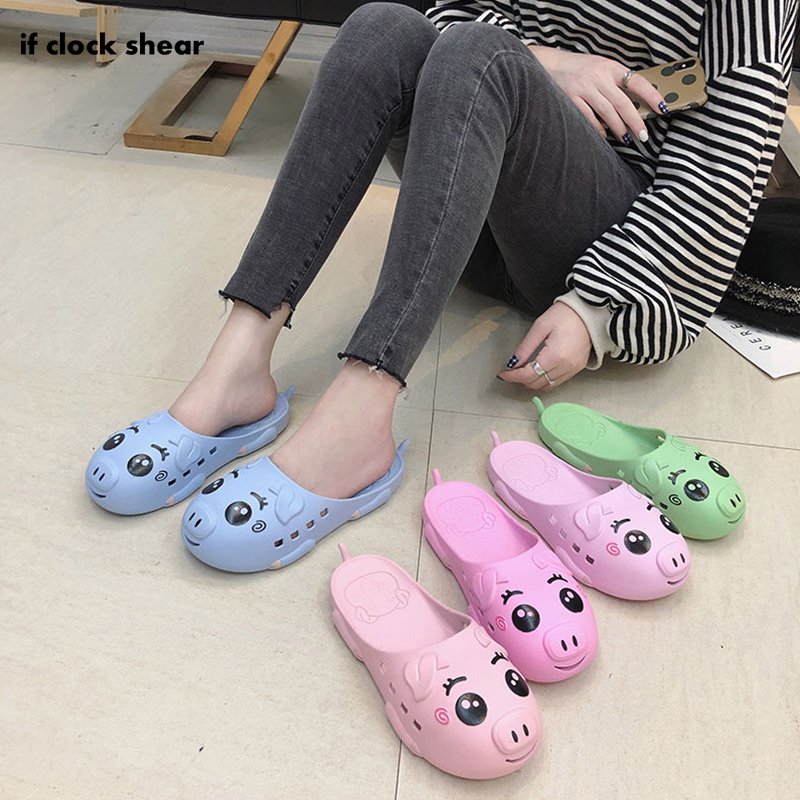 IF 2019 New Hospital Medical Flat Non-slip Work Shoes Nurse Shoes Casual Summer Breathable Slipper PVC Hole Female Beach Sandals