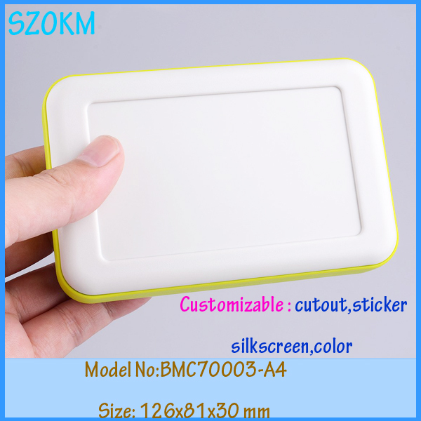 4 pcs lot handheld enclosure instrument case electrical distribution box abs plastic enclosure 126x81x30 mm