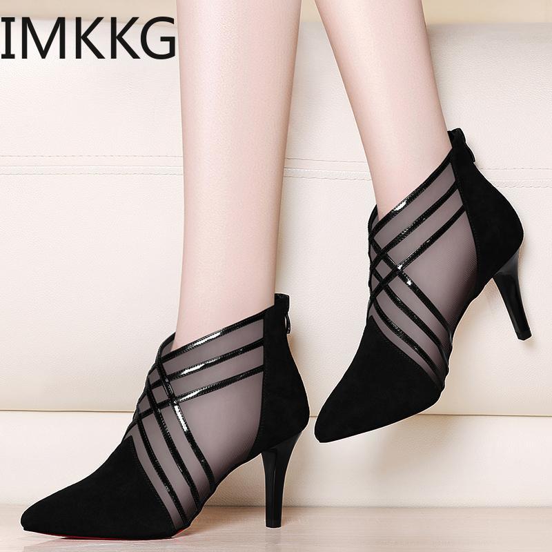 HTB1k3Fcc8OD3KVjSZFFq6An9pXaN Summer Women Sandals platform heel Leather hook loop metal Soft comfortable Wedge shoes ladies casual sandals V284