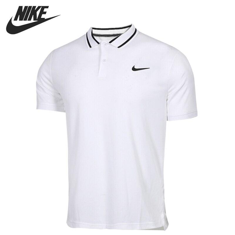 New Men/'s Nike Cotton Pique Polo Shirt T-Shirt Top Grey /& Black