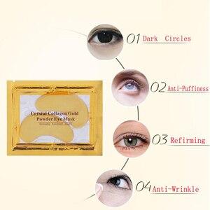 Image 4 - Оптовая цена DDP 10000 пар золотистые патчи для глаз антивозрастная противоморщинная женская маска для глаз