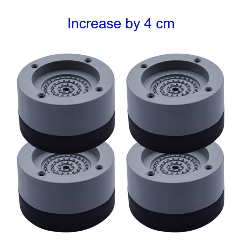 New Hot 4 Pcs Washing Machine Refrigerator Mute Rubber Mat Anti Vibration Anti Shock Pad SMD66