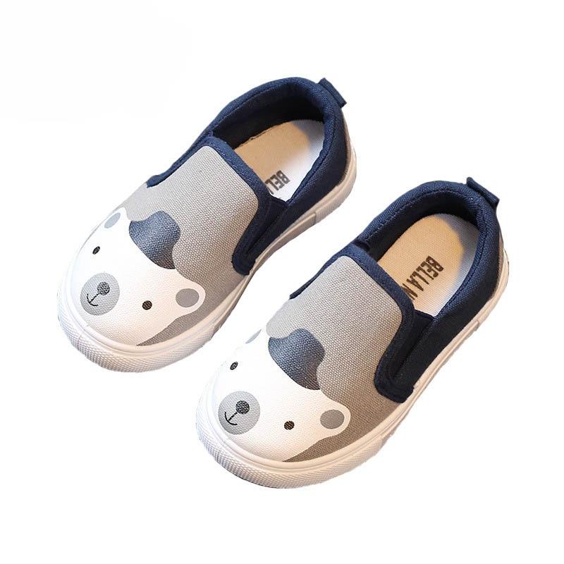 Girls Shoes Children Sneakers Boys Fashion Brand Soft Kids Shoes Casual Schoenen Canvas Shoes Cotton Cute Cartoon Tenis Infantil