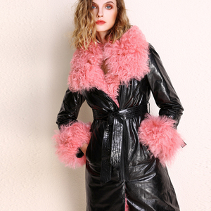 Шуба женская, винтажная, из натуральной кожи, в европейском стиле, на осень и зиму, Z1115