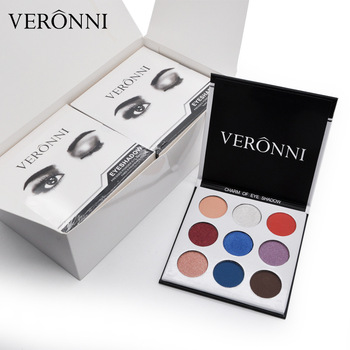 VERONNI Shimmer & Matte Eye shadow palette cosmetics 9 colors Long-lasting Brand New in box 48pcs/lot DHL Shipping