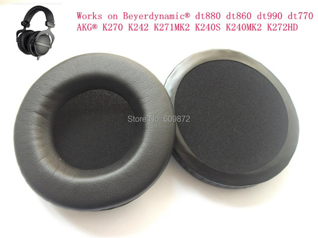 Replacement leatherette Ear Cushions Earpads , for Beyerdynamic dt880 dt860 dt990 dt770 , Singapore Post
