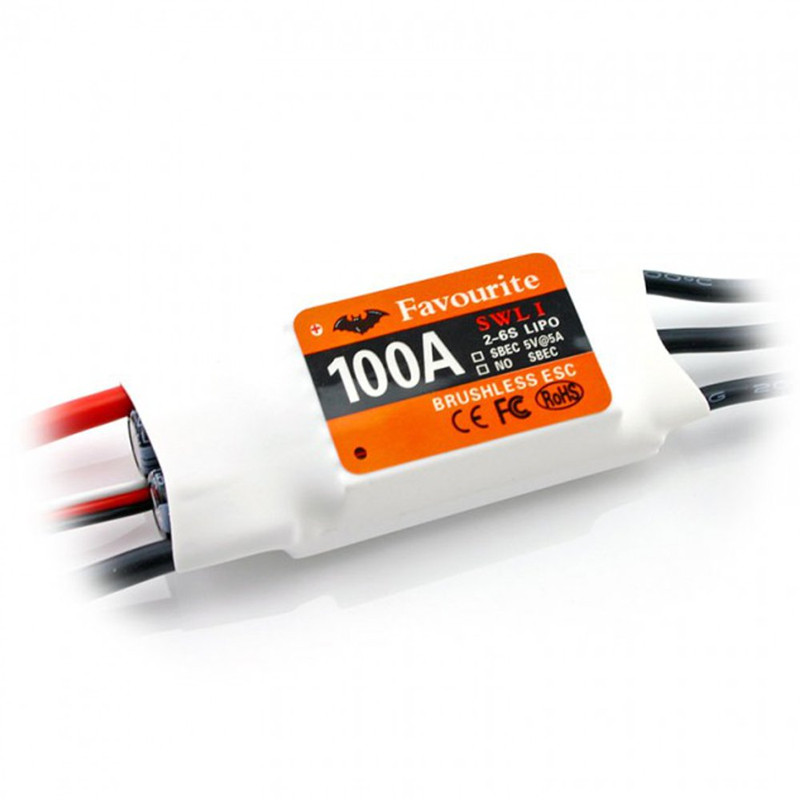 Favourite FVT Swallow Series 100A 2-6S Brushless ESC With 5V 5A SBEC For RC Airplane Aircraft Racer Spare Parts rc aircraft eme electric start remote control switch rcexl brush motor electronic switch 100a for rc model airplane spare parts