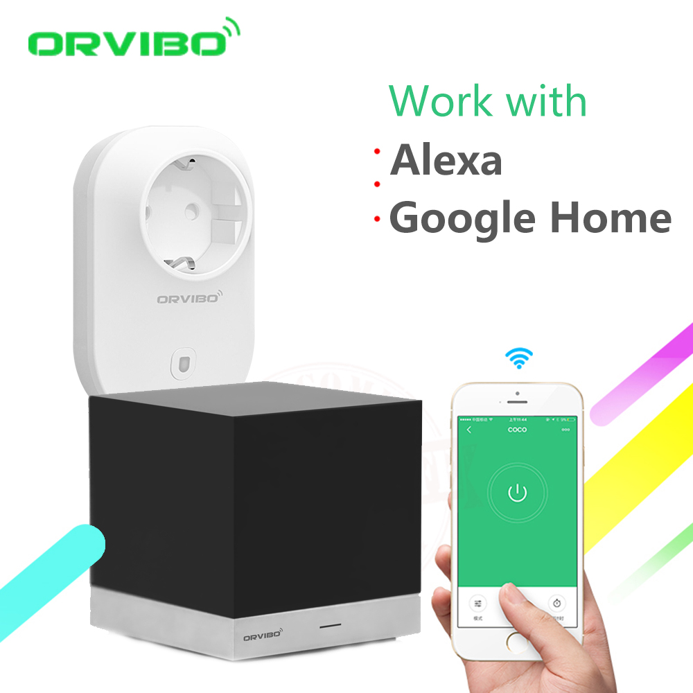 Alexa & Google Home Orvibo xiaofang Smart Home Automation System Controller Remote Control IR+ B25 WiFi Power Socket