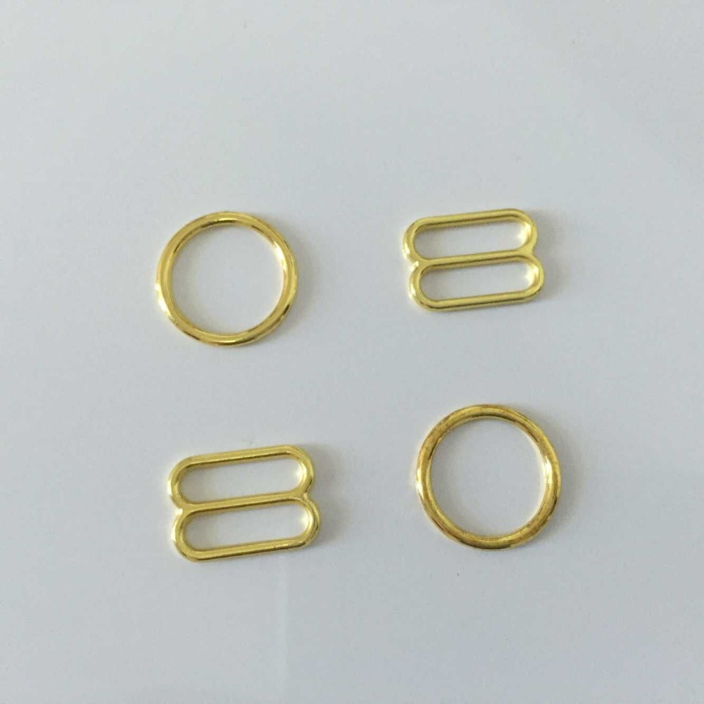 1000 pcs High quality adjustable rings for bra gold plated free shipping