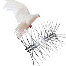 25cm נירוסטה ציפור דוחה קוצים ידידותית לסביבה אנטי יונה נייל ציפור הרתעה כלי עבור יונים ינשוף קטן ציפורים גדר