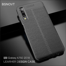 BSNOVT For Samsung Galaxy A7 2018 Case Cover Soft Silicone TPU Leather Shockproof Phone Case For Samsung A7 2018 A750 Fundas } for samsung galaxy a7 2018 fitted shockproof back cover anti skid anti fingerprint silicone soft black tpu phone case