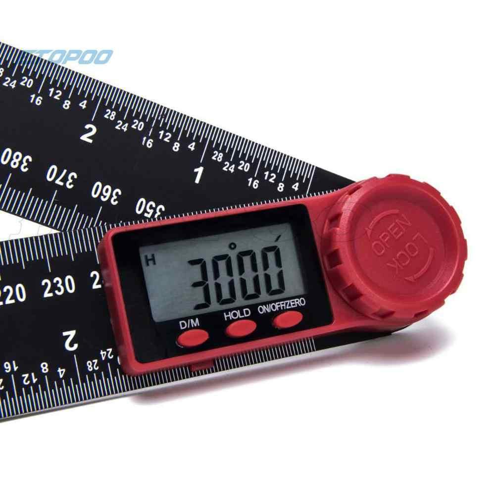 Güncelleme paslanmaz çelik dijital metre açı İnklinometre dijital cetvel elektron gonyometresi İletki açı bulucu ölçme aracı