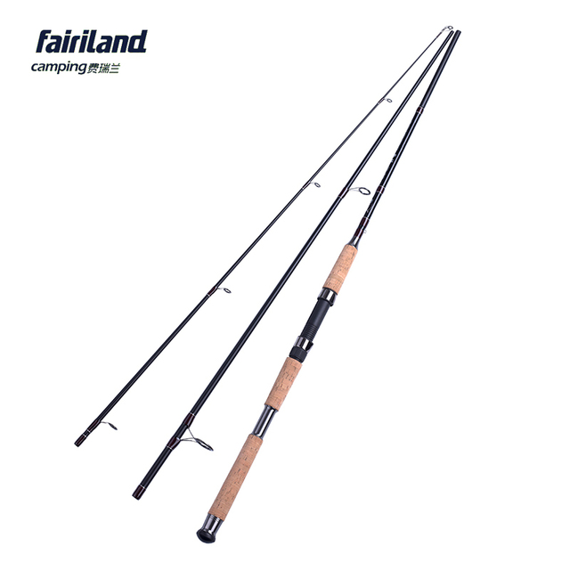 US $75 4 |7 9'/8 9'/9 8' MH FAST 3PCE travel spinning fishing pole cork  wood handle bass fishing rod saltwater/freshwater lure fishing rod-in  Fishing