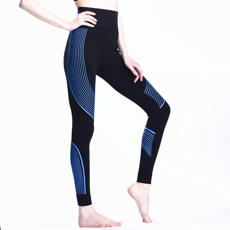 Godier workout colorful legging Colorful Line Print High Waist Fitness Pants Seamless Leggings 6 Colors Jc0042