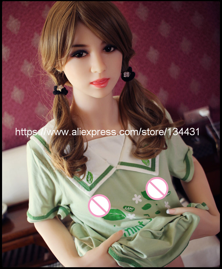 Real silicone sex dolls robot 158cm japanese anime love doll realistic toys for men big breast sexy mini vagina adult life full