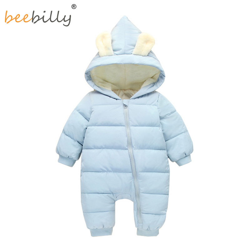 Baby Rompers Winter Jackets for Baby Girls Clothing Spring Autumn Coats Rabbit Ear Style Overalls For Baby Boys Newborn Clothes baby rompers 2016 spring autumn style overalls star printing cotton newborn baby boys girls clothes long sleeve hooded outfits