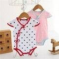 Девочки боди Мода китай стиль Горошек cheongsam Девушка новорожденный Одежда детские комбинезон детская одежда Бобо Выбирает
