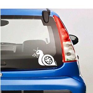 Image 2 - Reinforced Accelerating Snail JDM Turbo Power Sticker Car Window Vinyl Sticker Car Decal Black / Sliver #B1422