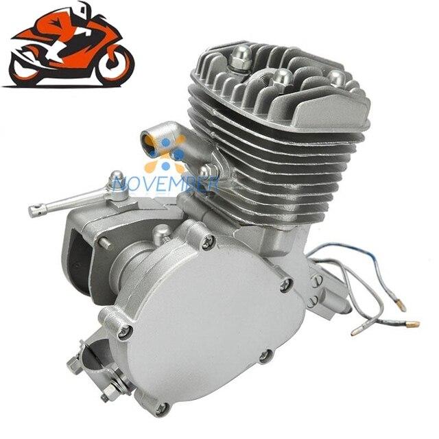 80cc 2 Хода Двигателя Одноцилиндровый Для Моторизованный Велосипед V-Рама Горный Велосипед Дорожный мотоцикл Cruiser Chopper Бензин двигатель
