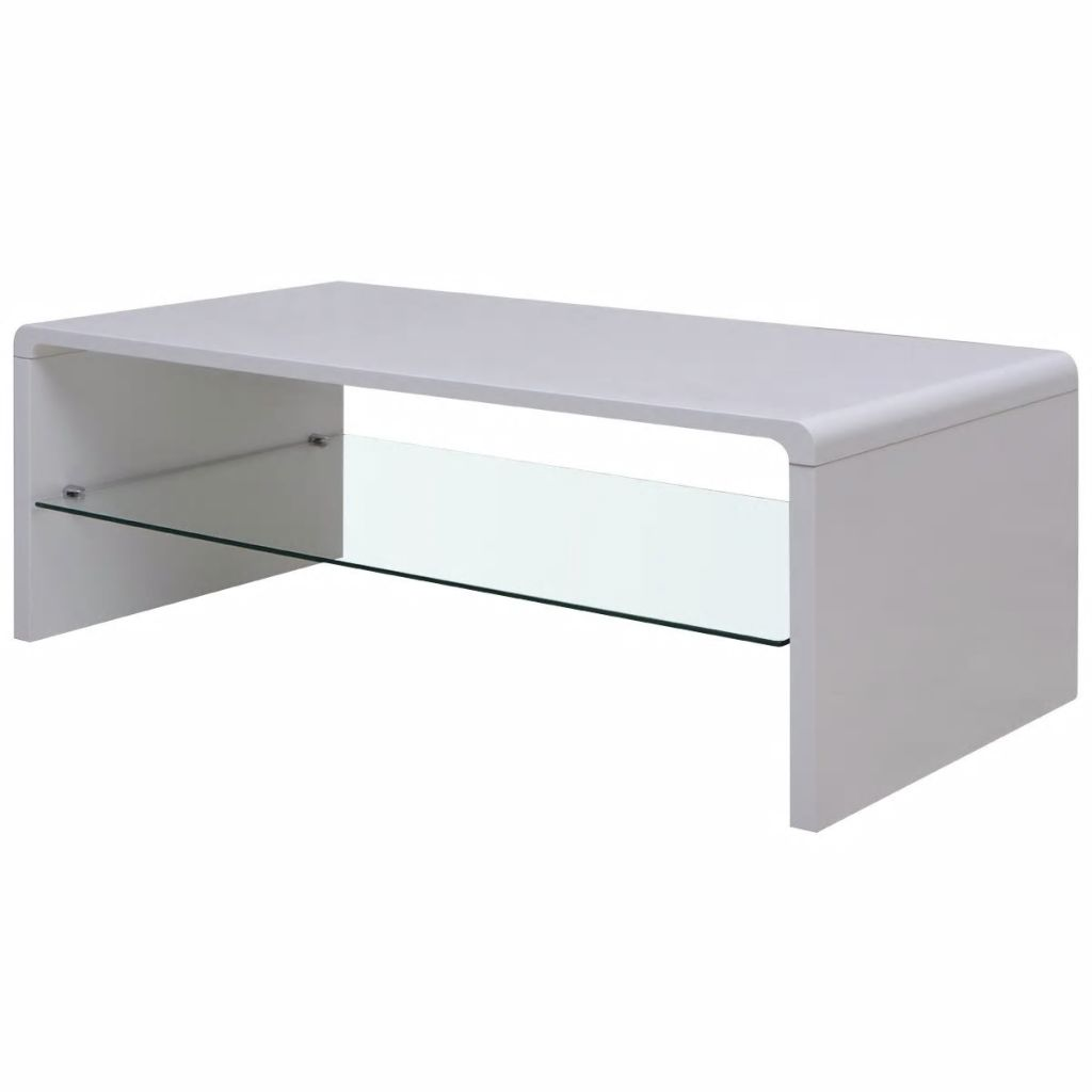 Vidaxl High Gloss Coffee Table White: VidaXL High Gloss Coffee Table White-in Coffee Tables From