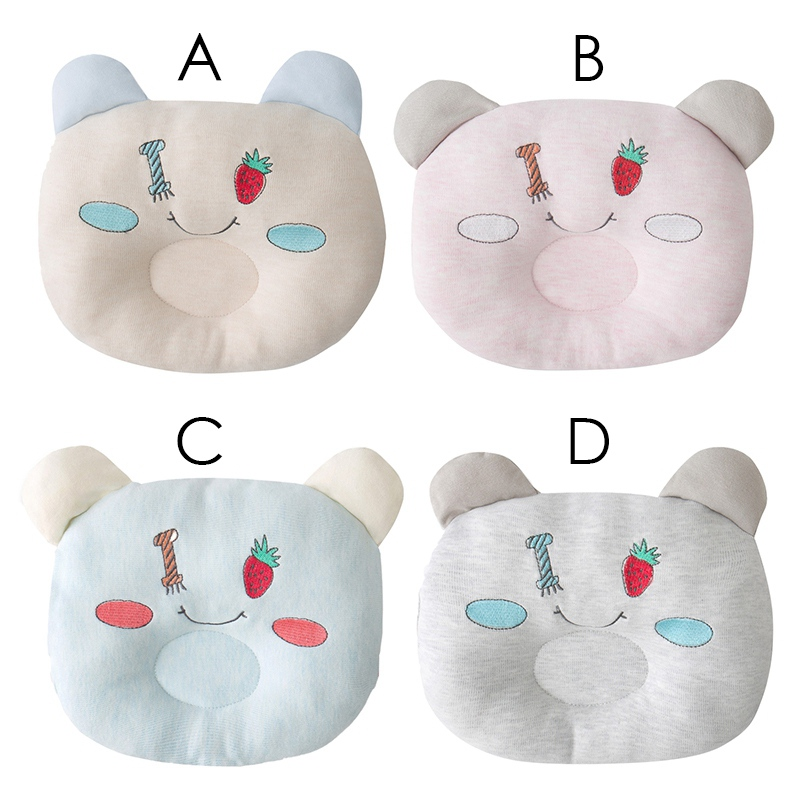 New Infant Baby Cotton Cartoon Pattern Pillow Newborn Baby Stereotypes Anti-head Shape Pillow Correction Head Correction Y