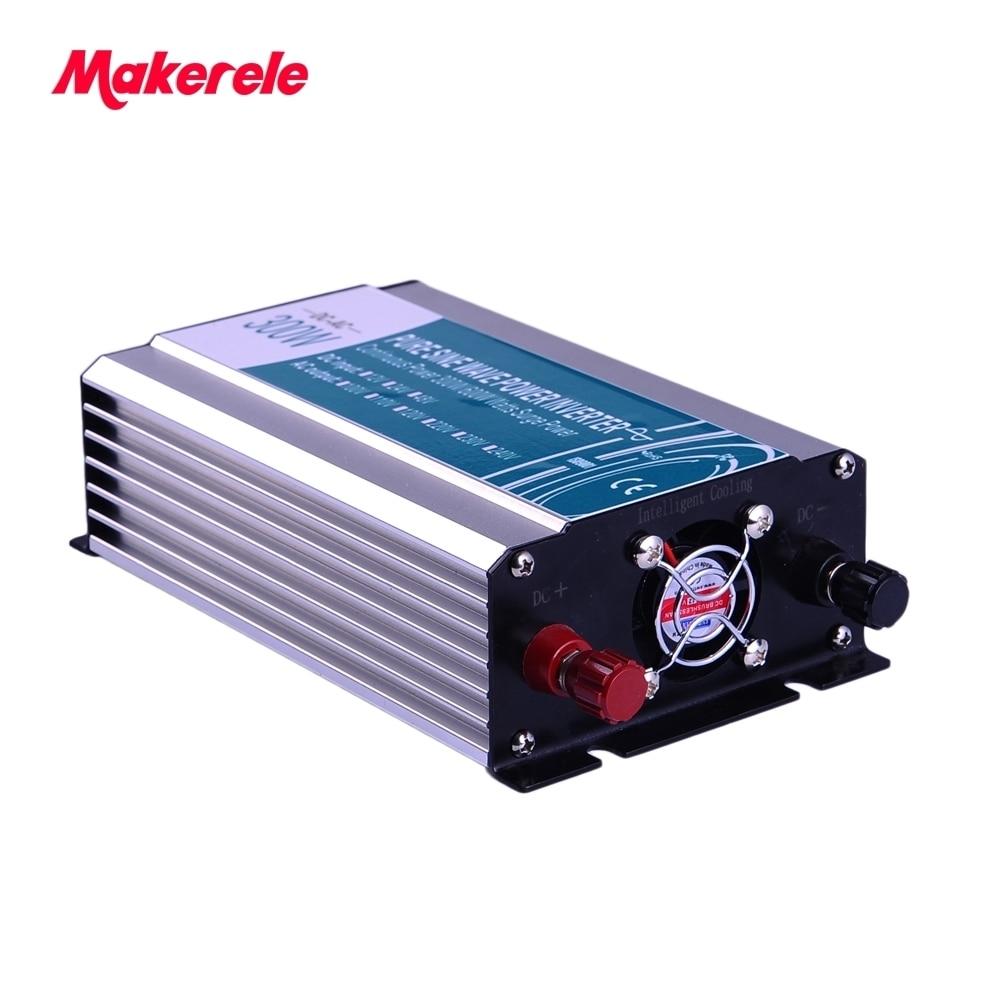 Inverseur 24 v 110 v 300 w petit watte MKP300-241 utilisé dans la voiture dc/ac électrique onduleur off grille sinusoïdale pure puissance