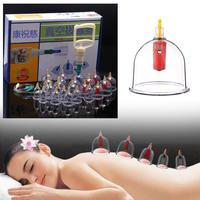 24 cans for Massage Vacuum Cupping Medicine Therapy Suction Cellulite Body Massage Silicone Cupping Set L4