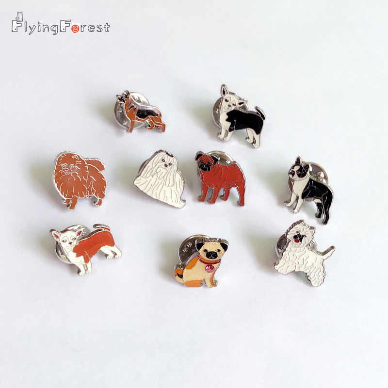 Brooch Pins Brooches-for-Women dogs brooches Pins Pendant Decorated Cute Brooches for Jewelry Women Fashion Charm Gifts Badges