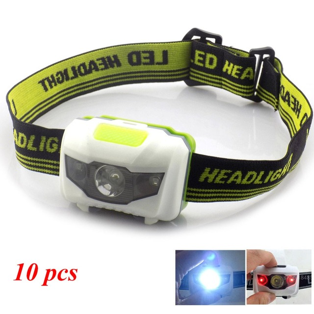 10pcs Lot Mini Led Headlamp Head Lamp Rechargeable Aaa Battery Headlight Frontal Lampe Torch
