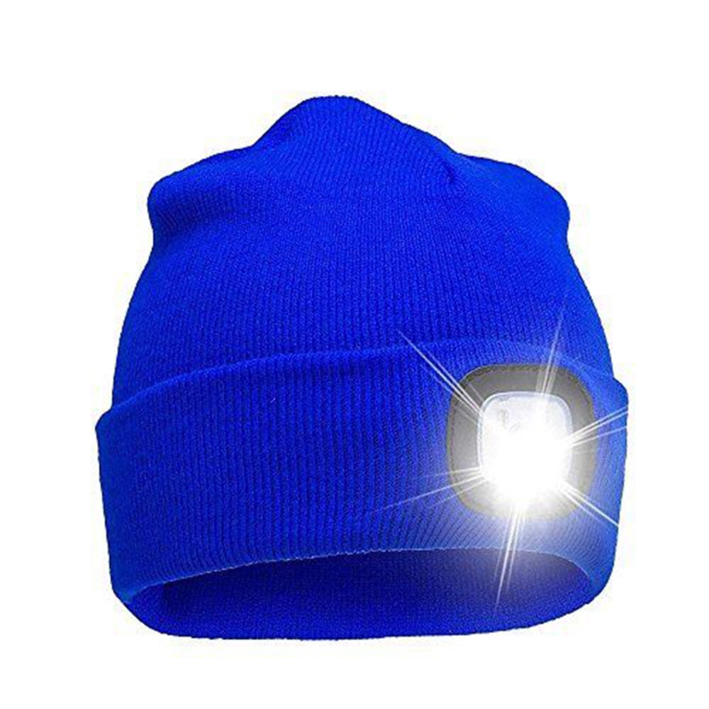 Sports & Entertainment Multi-purpose Ultra Bright 5 Led Winter Warm Beanie Cap Unisex Cool Lighted Stocking Cap Kintted Hat Outdoor Flashlight Lamp Cap