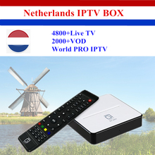GT2017 GOTiT Netherland 4K IPTV Box Android DVB-S2 Combo Smart TV Box with 1 Year PRO IPTV Holland Dutch IPTV Set Top Box(China)
