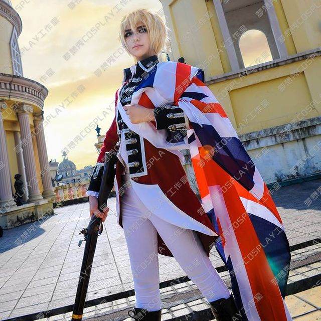 APH Hetalia Axis Powers War of Independence British England Cosplay Costume b8ce2db34