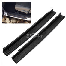 ABS DOOR SILL PLATE SCUFF PROTECTOR GUARD FIT FOR JEEP WRANGLER 2007 2015 2Door