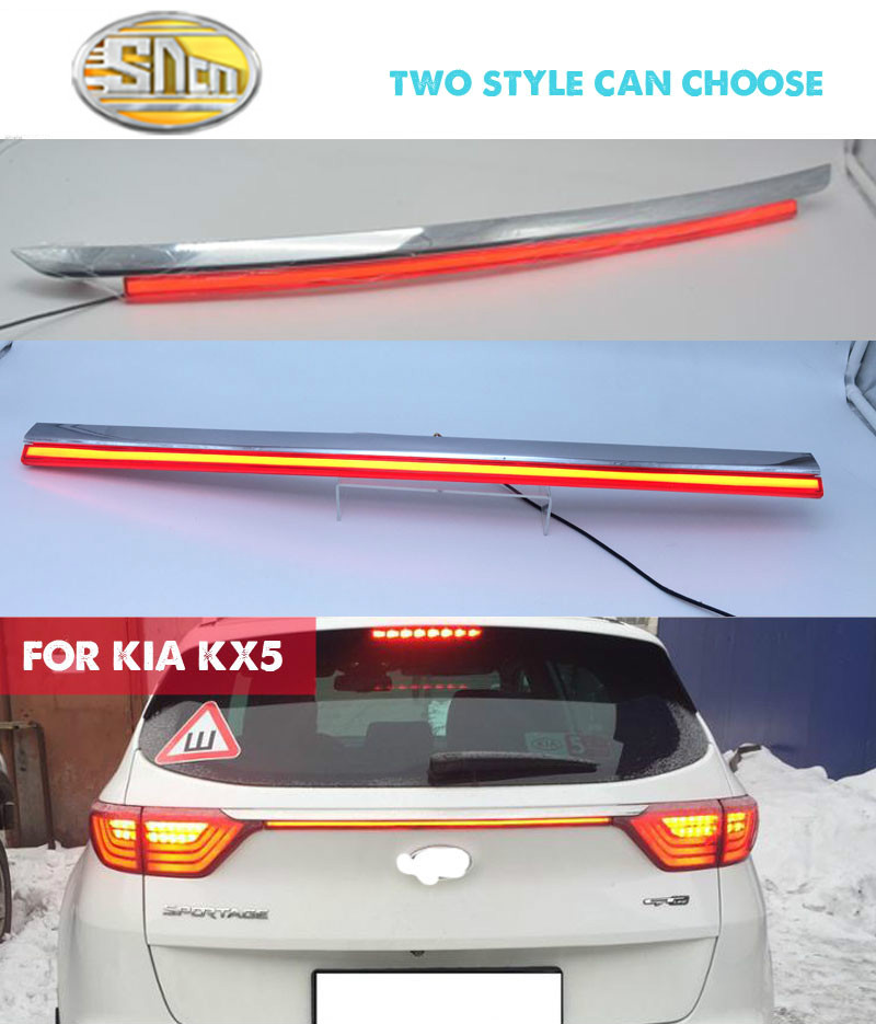 Rear Bumper Tail Light For Kia KX5 / Sportage IV (QL) 2016 2017 Red LED Reflector Brake Lamp Warning Signal Driving Fog Lamp brand new car red led rear bumper reflector light brake light tail for kia k3 cerato forte 2012 2013 2014