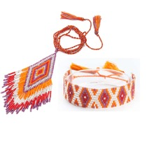 Shinus MIYUKI Jewelry Set Summer Beach Jewelry Boho Women Bracelet Delica Beads Necklace Geometric Pattern Bohemian Wedding Gift цены