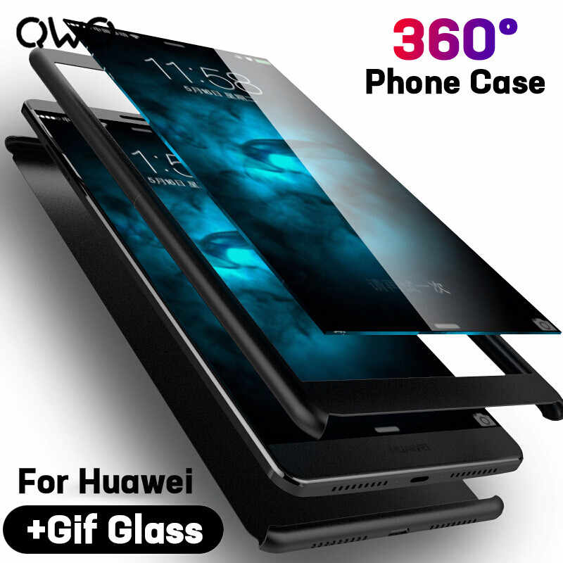 Luxury 360 Degree Phone Case For Huawei P20 Pro P10 Lite P9 Plus Case Full Cover For Huawei Mate 20 Pro 10 Lite Case With Glass
