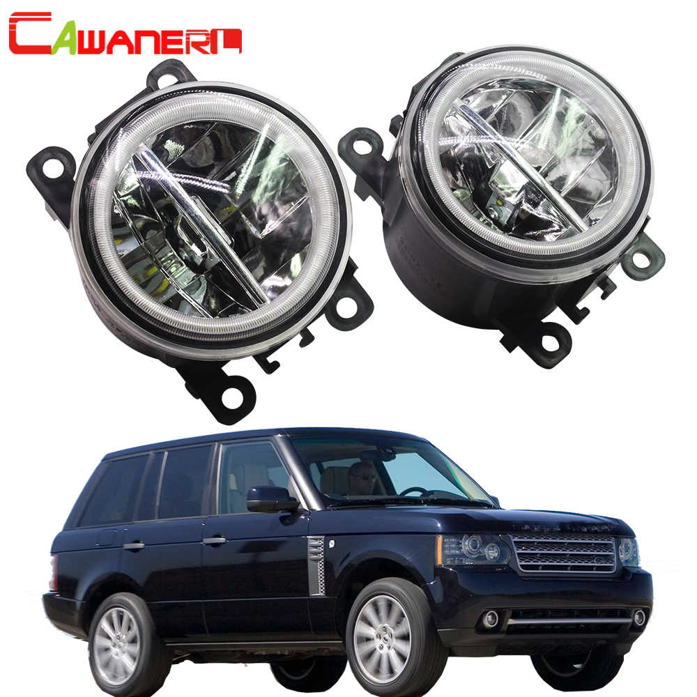 Cawanerl 2 Pieces Car Styling H11 LED Bulb Fog Light + Angel Eye DRL 12V For Land Rover Range Rover III SUV (LM) 2009-2012