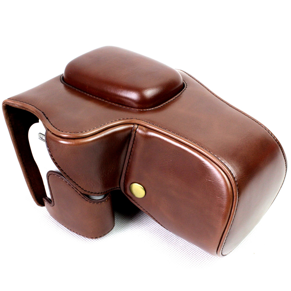 Black/Brown/Coffe/White High Quality PU Leather Camera Case Bag Cover For  Canon EOS 200D With Storage Bag Bottom Opening Case