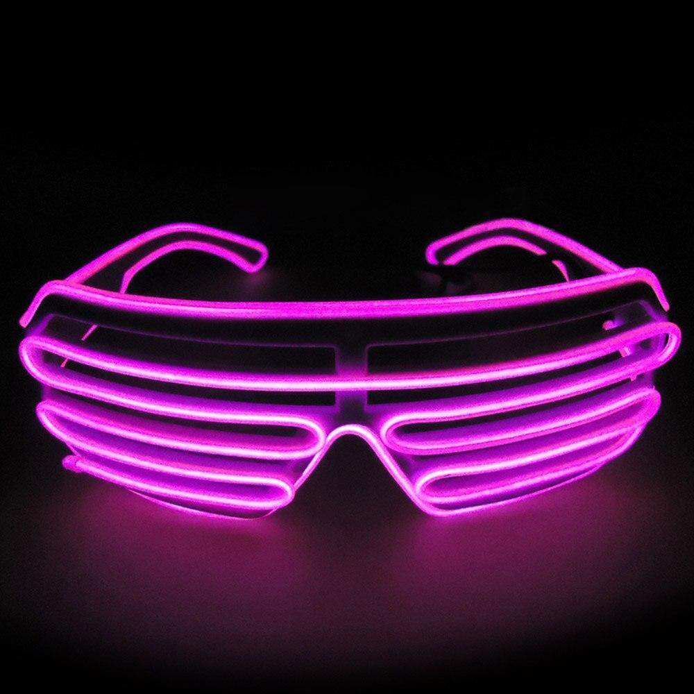 Умный светодиодный пульт дистанционного управления, стекло es, стекло EL Wire, модный неоновый светодиодный светильник в форме затвора, стекло es Rave DJ, яркие вечерние костюмы - Цвет: pink