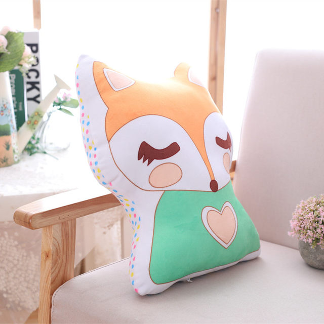 Cute Unicorn Fox Stuffed Baby Toys Soft Kawaii Animal Shaped Pillow Cartoon  Doll Kids Bedroom Decoration Child Cushion Gift