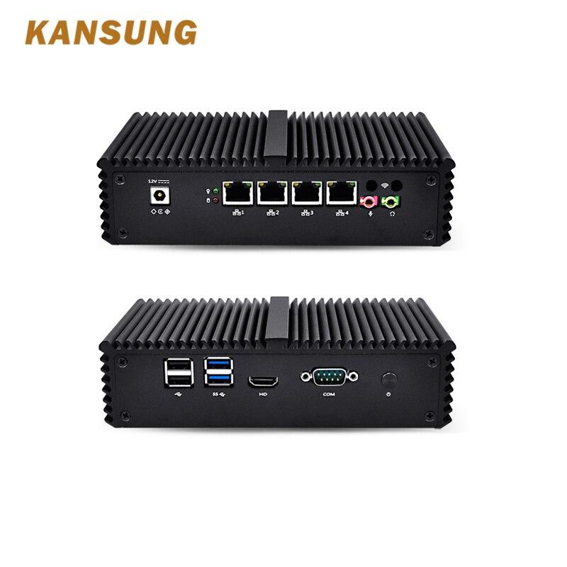KANSUNG Intel Core I5 Mini Desktop Pc 4 Gigabit Aes-ni Router Windows 10 Linux HTPC Nettop Fanless Mini Pc Portable
