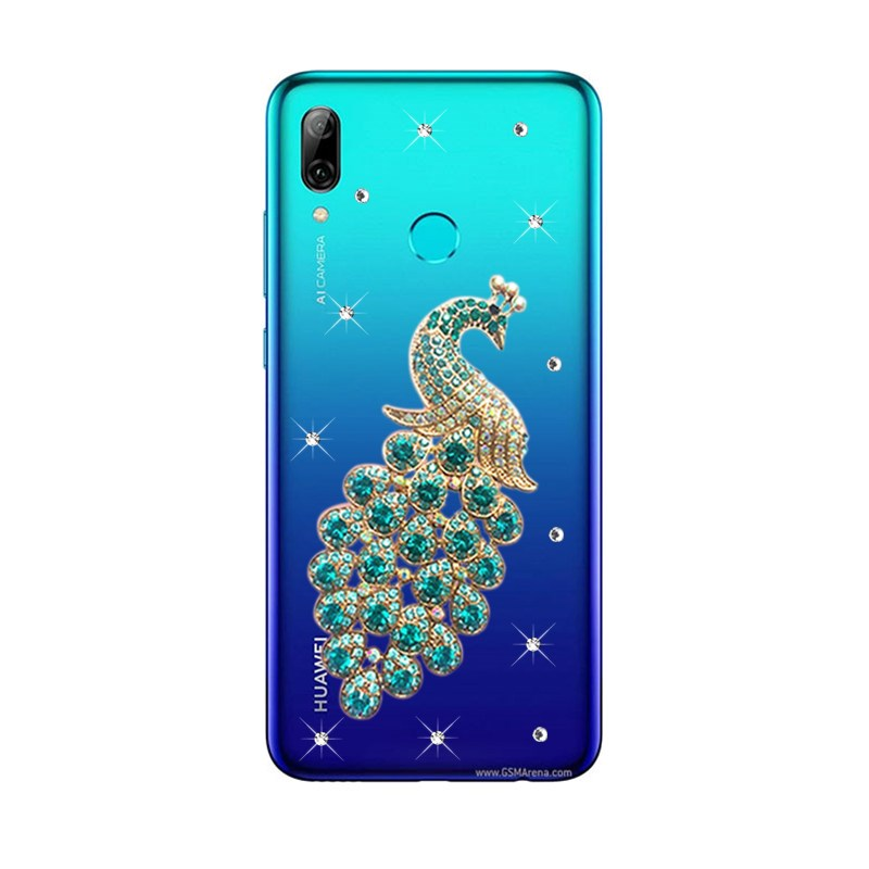 For Huawei P Smart Z 2019 Y7 P20 lite pro phone case peacock pattern clear  Coque Cover Huawei 7A Honor 20 8A 8X 8C Nova 4 3 Case