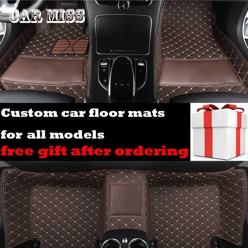 Custom logo auto vloermatten voor hyundai getz santa fe tucson elantra sonata solaris kona Alle Modellen auto accessoires auto matten