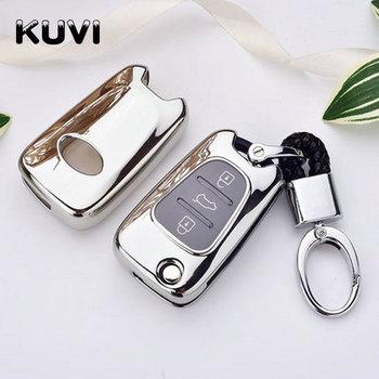 Miękka TpuCar klucz obudowa na łańcuszek pokrywa dla Hyundai I30 IX35 Accent I20 Sonata dla Kia K2 K5 Sportage L811 Sorento etui na klucze tanie i dobre opinie Kuvi